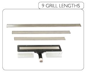 9 Grill Lengths for wet rooms