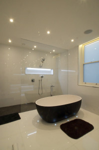 shower and bath wet room design