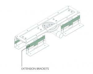 height extension wet room drain bracket