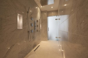 double shower designer wet room