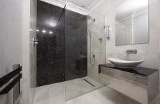 Luxurious black and white ensuite