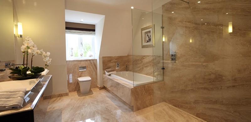 large open plan wet room