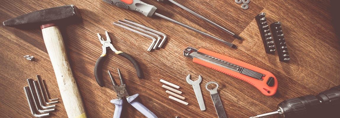 A set of construction tools