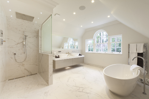 large luxury bathroom