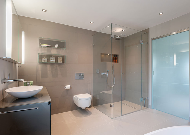 Genial Contemporary Wet Room Design. Woddingham