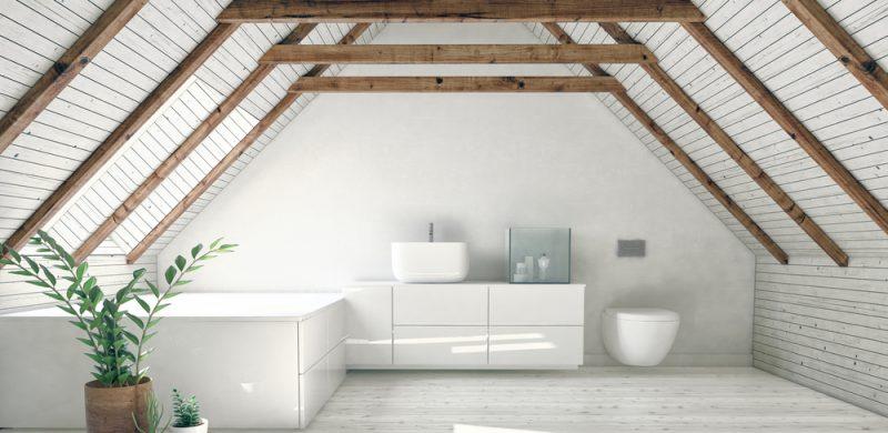 attic conversion into a wetroom