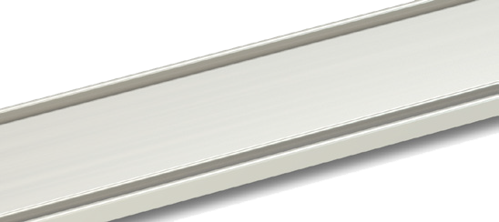 Solid linear shower drain grill finish