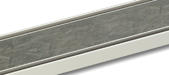 18-20mm stone-infill shower drain grill finish