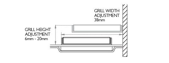 Floor Grill Height adjustment