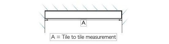 tile to tile measurement
