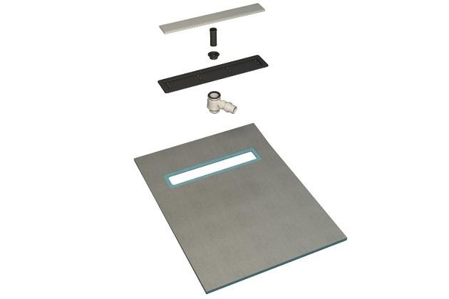 1500mm Long Rectangular Stainless Steel Linear Wetroom Drain Design 2