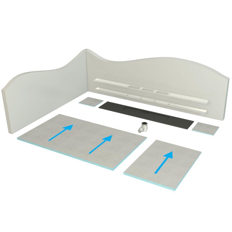 modular wet floor system